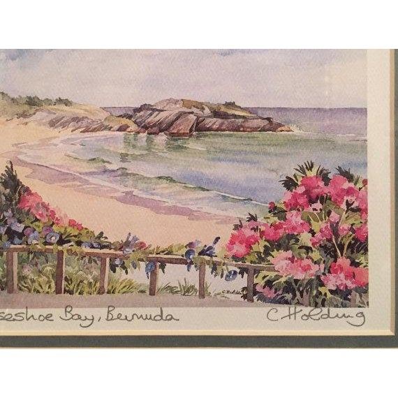 Framed Watercolor Print by Carole Holding For Sale - Image 4 of 6