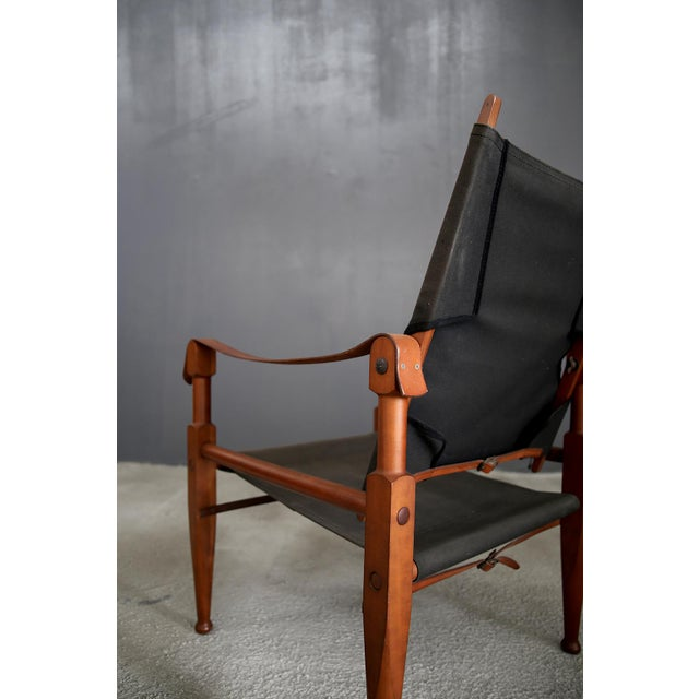 Pair of Vintage Safari Chairs by Kaare Klint for Rud. Rasmussen For Sale - Image 6 of 8