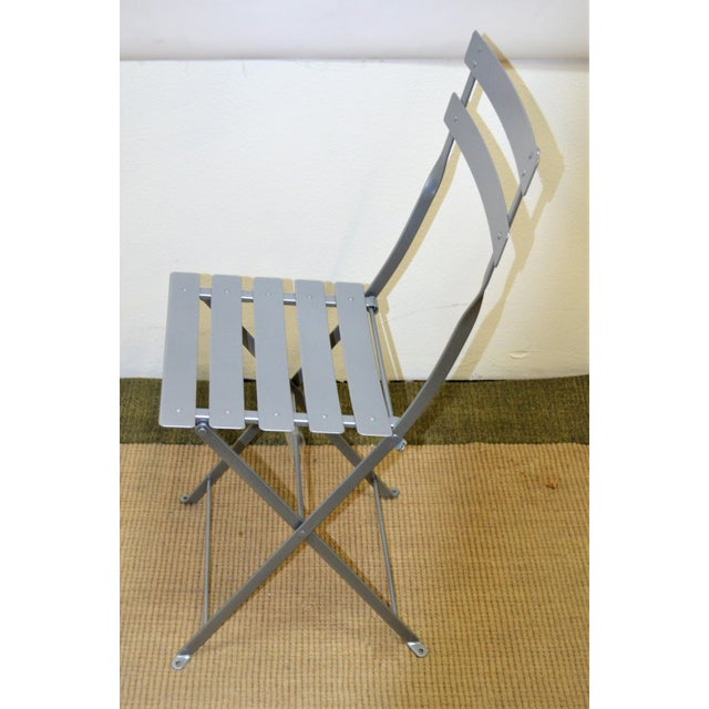 Modern Fermob Bistro Grey Chair For Sale - Image 3 of 6