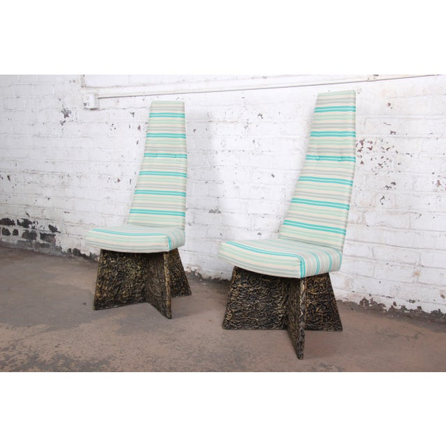Adrian Pearsall Mid-Century Brutalist High Back Side Chairs - a Pair For Sale - Image 9 of 9