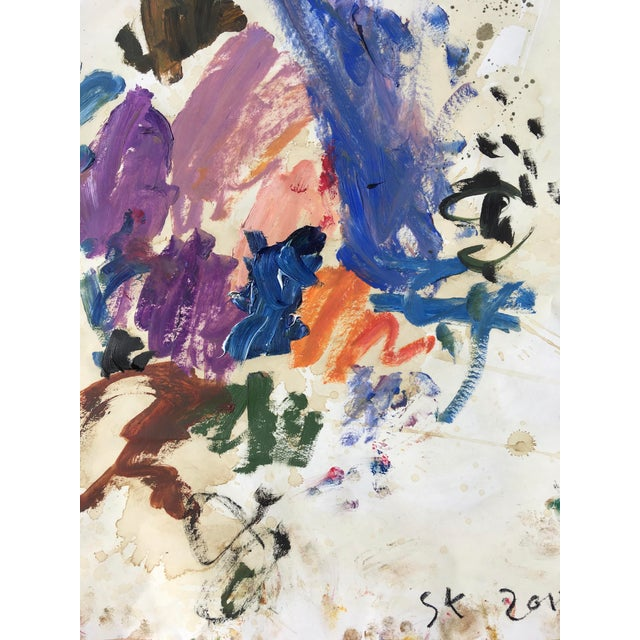 Abstract 'Erma Franklin' Abstract Oil Painting by Sean Kratzert For Sale - Image 3 of 4