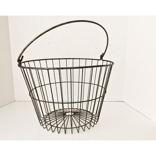 Rustic Industrial Wire Egg Basket - Image 5 of 7