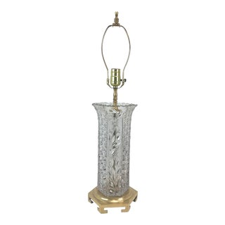 Leviton Crystal and Brass Lamp For Sale