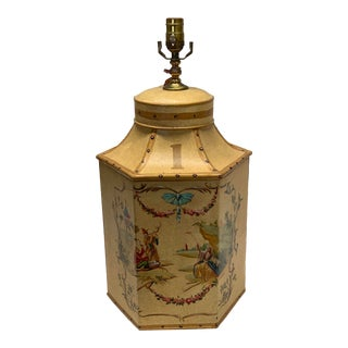 """1960s Vintage Chinese English Tea Caddy Lamp """"1"""" For Sale"""