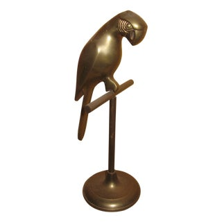 Antique Brass Parrot