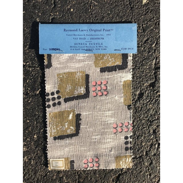 Paper 1954 Raymond Loewy Textile Swatch For Sale - Image 7 of 7