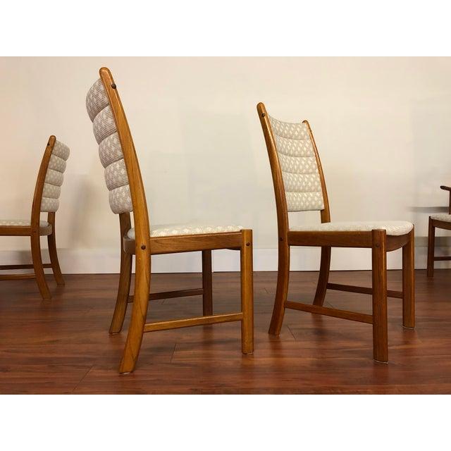 Johannes Andersen for Uldum Vintage Teak Dining Chairs - Set of 6 For Sale - Image 10 of 12