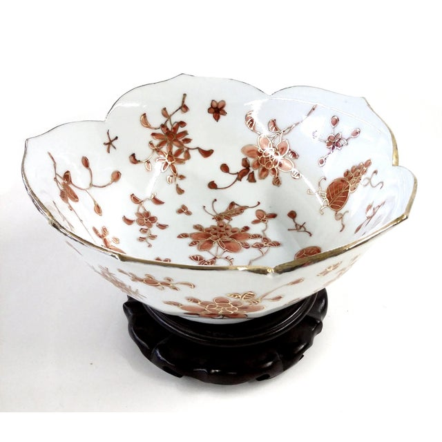 Vintage Hand-Painted Chinese Porcelain Lotus Bowl - Image 3 of 9
