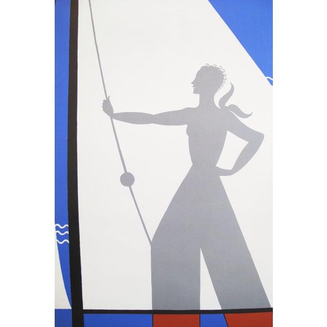Art Deco 1978 Erte Exhibition Poster, Art Deco Sailing For Sale - Image 3 of 4