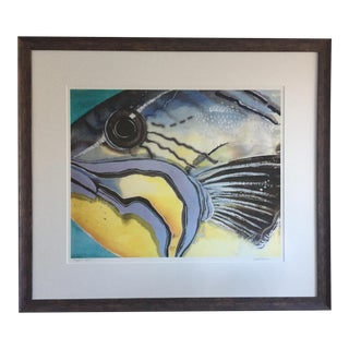 Large Framed Trigger Fish Print by Wendy B. Tatter