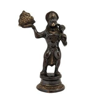 Vintage Bronze Hanuman Statue Hindu Deity Figurine For Sale