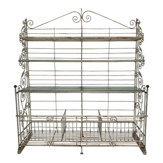 Monumental 19th Century French Painted Baker's Rack For Sale