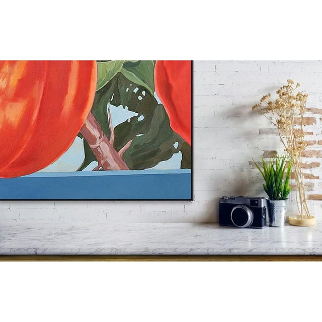 Realism Four Apricots' Painting in Oil on Canvas by George Brinner For Sale - Image 3 of 3