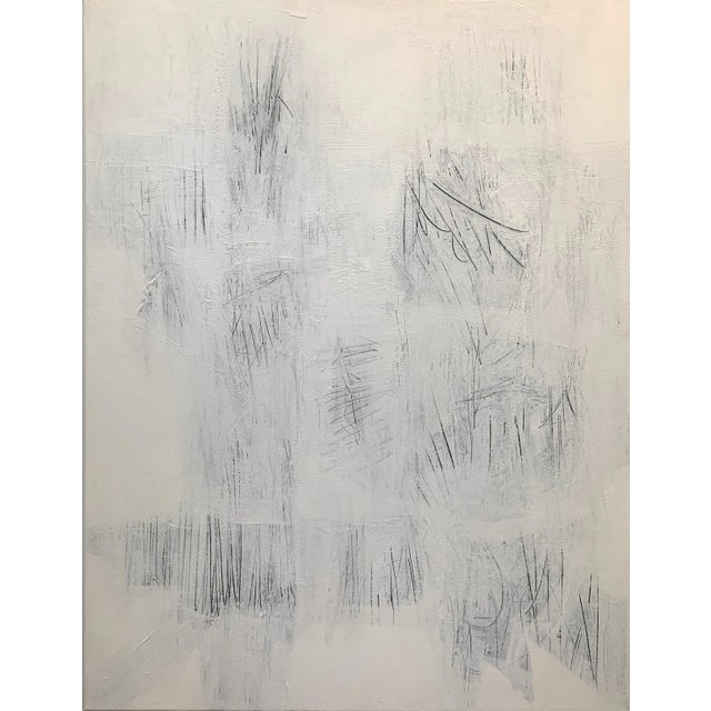 This sophisticated white on white acrylic painting on canvas is sure to be a show stopper. Layers upon layers of white...