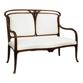 White Art Nouveau Bench For Sale
