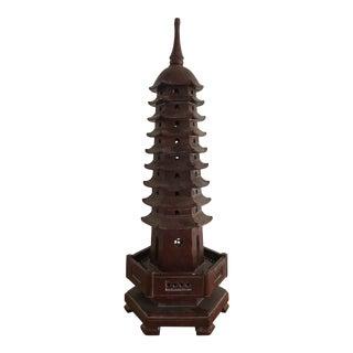 1970s Mario Buatta Style Soapstone Pagoda Statu For Sale