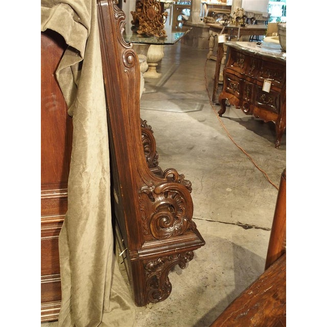 19th Century Sculpted Oak Stall from a Private Chapel in Liege, Belgium For Sale - Image 4 of 11