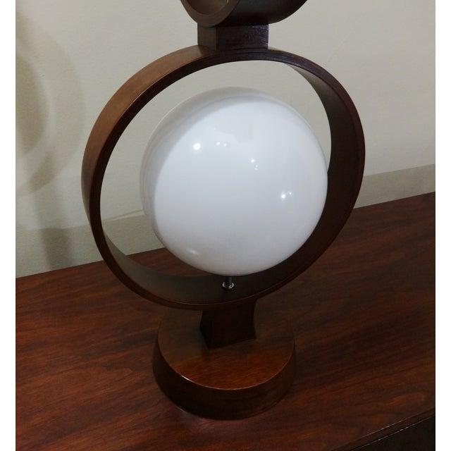 Mid Century Modern Modeline Walnut 3 Tier Lamp - Image 6 of 7