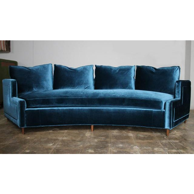 Pierre Curved Velvet Sofa - Image 4 of 4