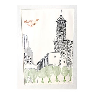 John Sollid Smith Tower Seattle Print - Framed, Signed, Numbered