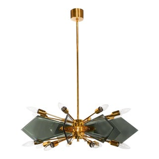 Mid-Century Starburst Chandelier For Sale