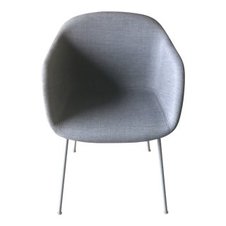 Muuto Gray Fabric Tube Leg Fiber Armchair For Sale