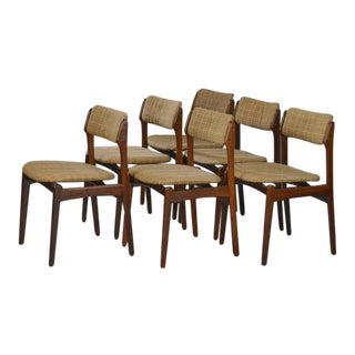 Danish Rosewood Dining Chairs by Erik Buch - Set of 6 For Sale