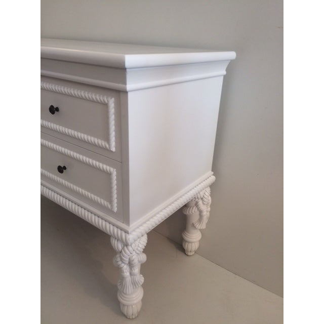 Wood 1960s Hollywood Regency White Commode With Tassel Legs For Sale - Image 7 of 13