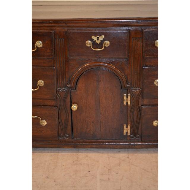 18th Century English Oak Dresser Base For Sale - Image 9 of 10