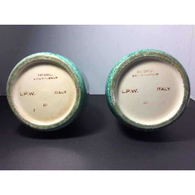 Italian 1940's Italian Baldelli Vases - a Pair For Sale - Image 3 of 6