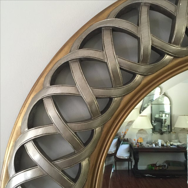 Chinese Round Decorative Mirror - Image 7 of 8