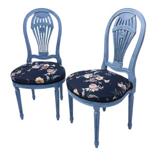 1960s Vintage Maison Jansen Style Side Chairs- A Pair For Sale