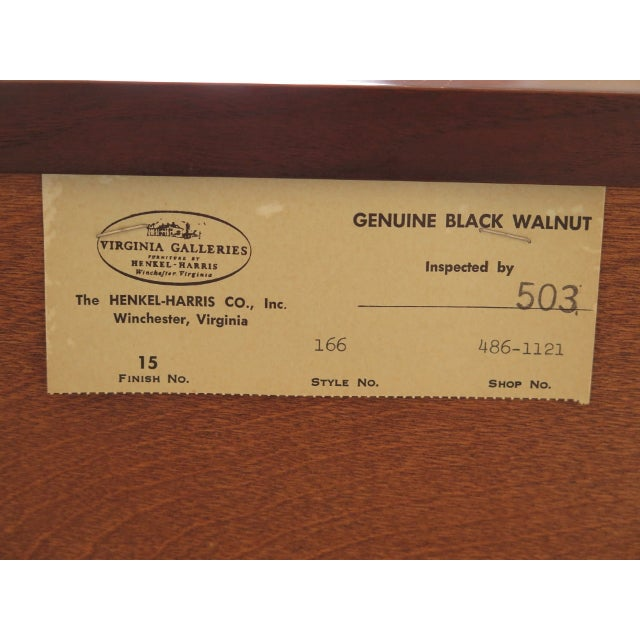 1980's Vintage Henkel Harris Chippendale Walnut Dresser For Sale - Image 11 of 12