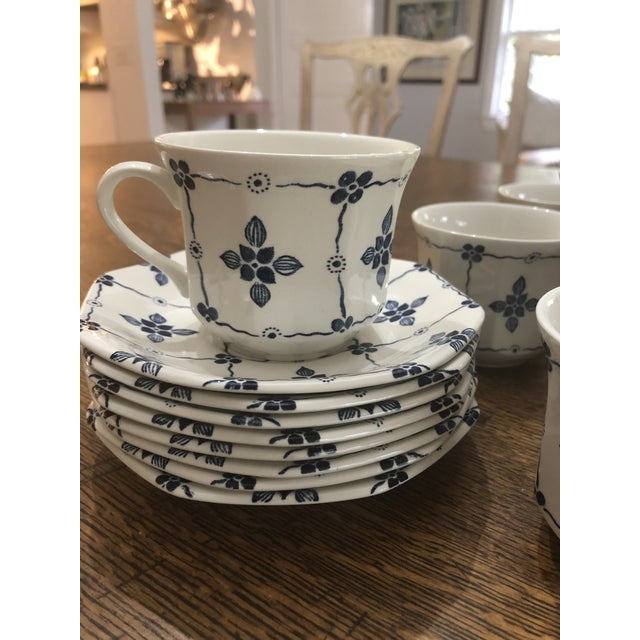 """French Country Royal Staffordshire """"Homespun"""" Ironstone by Meakin - 18 Pieces For Sale - Image 3 of 8"""