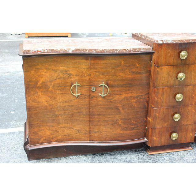 1940s Art Deco Grand Scale Macassar Ebony Sideboard For Sale - Image 10 of 12