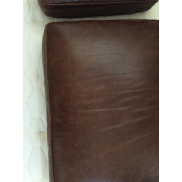 Crate & Barrel Leather Club Sleeper Sofa - Image 9 of 10