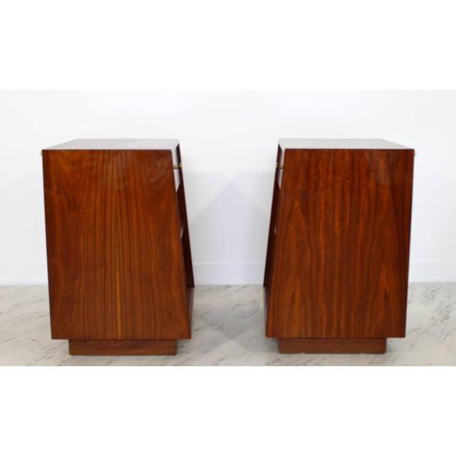 Mid-Century Modern Mid-Century Modern Kipp Stewart Drexel Declaration Walnut Pair of Nightstands For Sale - Image 3 of 10
