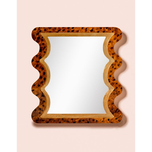Fleur Home x Chairish Carnival Mystic Rectangle Mirror in Tortoise, 24x36 For Sale - Image 4 of 4