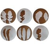 Image of Hand-Thrown Stoneware Salad Plates - Set of 6 For Sale
