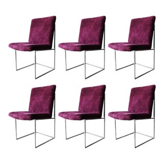 Milo Baughman for Thayer Coggin Floating Dining Chairs - Set of 6 For Sale