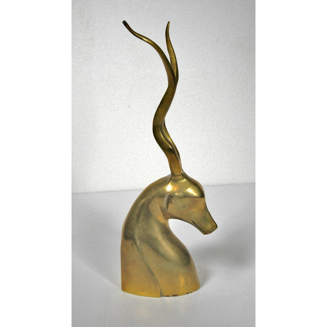 Vintage Brass Impala Bust - Image 3 of 5