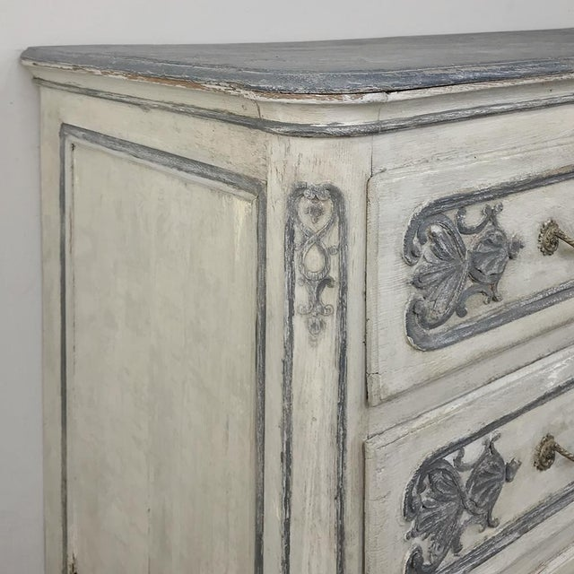 19th Century Country French Regence Painted Commode For Sale - Image 11 of 13