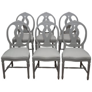 1920 Swedish Gustavian Chairs - Set of 6 For Sale
