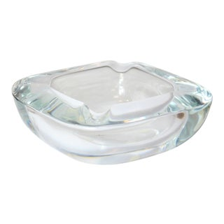 Mid-Century Art Vannes Le Chatel of France Leaded Crystal Ashtray / Bowl For Sale