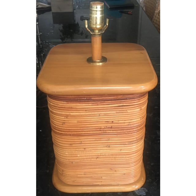 Vintage 1970s Gabriella Crespi Style Pencil Reed Table Lamp For Sale In Kansas City - Image 6 of 12