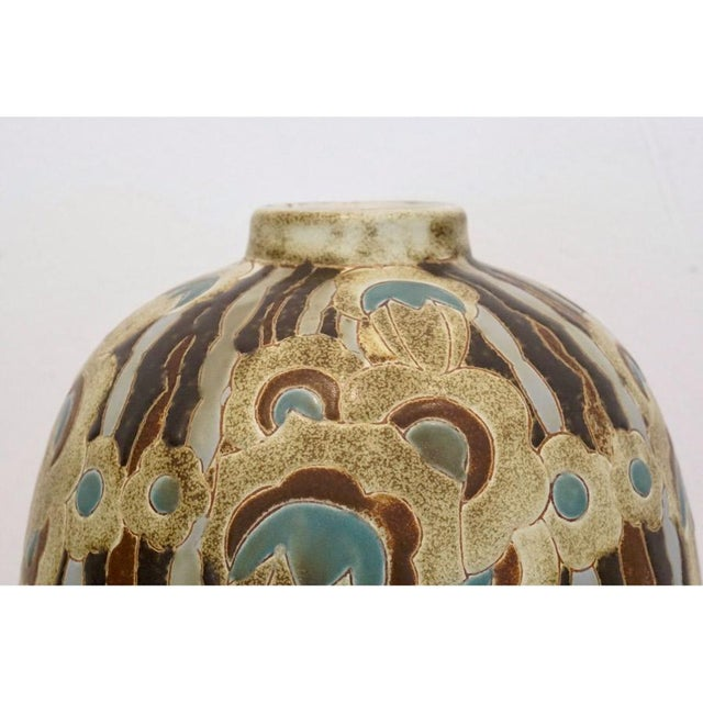 Art Deco 1920s Charles Catteau Vase For Sale - Image 3 of 7