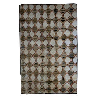 "1880s Antique American Hooked Rug- 5'10"" x 7'10"" For Sale"
