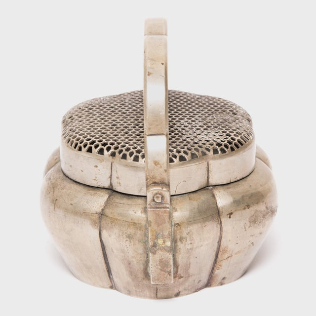 19th Century Chinese Brass Gourd Form Brazier For Sale - Image 4 of 6
