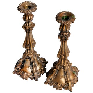 1970s Italian Bronze Candlesticks - a Pair Preview