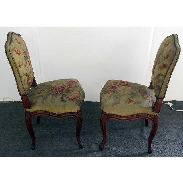 Mid Century Louis XVI Style Side Chairs- A Pair For Sale - Image 9 of 10